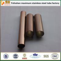 Bronze color finish pipe stainless steel SS304 exporter Manufactures