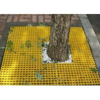 Molded Fiberglass Plastic Floor Grating For Tree Yellow Color SGS Approval Manufactures