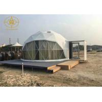 China Clear Span Lightweight Geodesic Tent Fire Retardant Commercial Dome Tents on sale