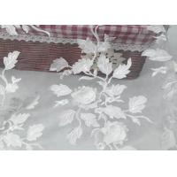 Quality Tulle Tape Embroidery Mesh Lace Fabric 3d Flower With SGS Certificate for sale