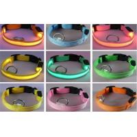 White Red Purple LED illuminated Collars Controled By The Button / Pet Accessories Manufactures