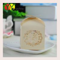 China Luxury sweety mini light gold paper wedding decorative candy gift box with cheap price on sale