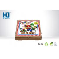 China Color Printed Kraft Paper pizza box cardboard , take away pizza packing box on sale