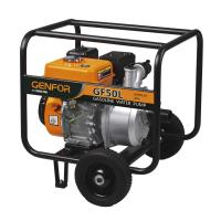 China 4 Inch Gasoline Water Pump 177F 9HP 6L Fuel Tank Motor Pump With Wheels on sale