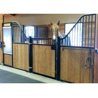 China Classic Free Standing Powder Coated Horse Stall Partitions With Swing Door And Dividers on sale