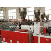 High Precision Plastic PVC Panel Manufacturing Machine Conical Twin Screw Manufactures