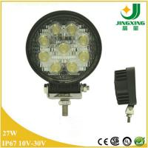 China Spot Round  12V 24V Epistar 27W LED Work Light Offroad Truck Fog Driving Lamp 4X4 SUV ATV on sale