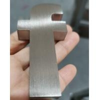 China Brushed 3d Stainless Steel Letters 10mm Deep Non Illuminated Customzied Size on sale