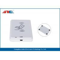 White NFC Contactless Reader , Anti - Collision Mifare NFC Reader And Writer Manufactures
