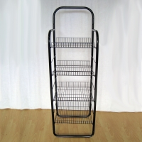 Four Wire Baskets Floor Grocery Display Stands Multi Tiers Convenience Store Display Racks Manufactures