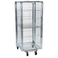 China Custom Size  Wheeled Metal Cart 4 Side Lockable Easy To Transport on sale