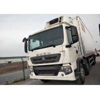 10 Wheel 30T HOWO Freezer Box Truck , Small Refrigerated Truck With Euro II Emission Manufactures