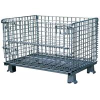 Quality Folding wire mesh storage cage warehouse container for sale