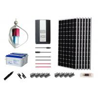 Advanced  Off Grid Hybrid Power Systems 200W Home Solar Kit Long Service Life Manufactures