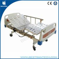 Electro - Coating Electric Hospital Beds 4 - Part Steel , ABS Bedsides Rails Manufactures