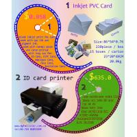 Buy cheap FullColor Free Samples 86 * 54 * 0.76 mm Inkjet Printable PVC ID Card for Wholesale Price from wholesalers
