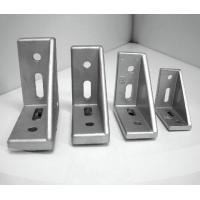 China Aluminum profile metal right angle bracket with plastic cap 30x60 corner bracket on sale