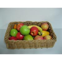 Custom Hand Woven Plastic Rattan Shelf Storage Baskets For Fresh Fruits Recycled Manufactures