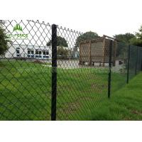 PVC Coated Galvanized Steel Chain Link Fence Waterproof For Residential Building Manufactures
