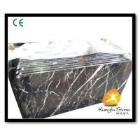 China Xiamen Kungfu Stone Ltd supply Black Marquina Prefab Countertops In High quality on sale