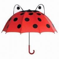 China 17-inch x 10k Kid's Cartoon Ear Umbrella, Made of 170T Polyester, with Silkscreen Printing on sale