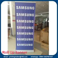 Luxury silver Pull up Banners Roller up Banners Manufactures