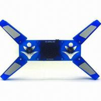 Sport-changeable Laptop Cooler Pad with 2 Fans, 150Hz to 20kHz Frequency and 23dBA Noise Manufactures
