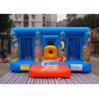 Durable Blue Kids Inflatable Jumper Flame Retardant For Indoor Use Manufactures