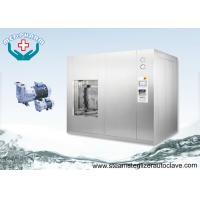 Horizontal Sliding Door 1500 Liters Stainless Steel Pass Through Sterilization Cycle Autoclave Manufactures