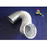 Silver 8 Inch Aluminum Flexible Duct , Fire Rated Flexible HVAC Duct Manufactures