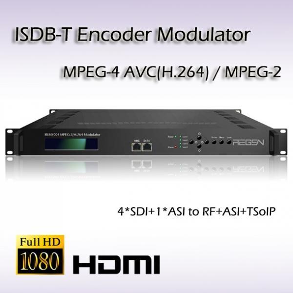 Quality REM7004 HD-SDI HD Encoder Modulator 4*SDI TO ISDB-T hd Vidoe Modulator for sale
