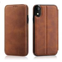 Tan Genuine Leather Phone Case Creative With Card Holder Kickstand Anti Dust Manufactures