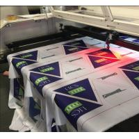 Polyester Fabric Vision Laser Cutting Machine For Flag Display Signage And Banner Manufactures