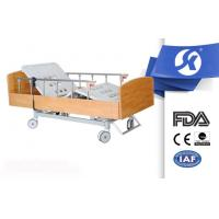 Quality Wooden Nursing Home Furniture Electric Hospital Bed with Foot Board for sale
