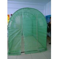 arched garden greenhouse, steel pipe tube frame +140gsm green leno tarp cover, 1.8x2.4m Manufactures