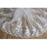 White Floral Venise Nylon Mesh White Bridal Lace Fabric For Dressmaking Manufactures