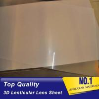 Thin And Sharp Clear 3D Lenticular Lens Sheet Plastic 75 Lpi Platic Film Lenticular Sheet For 3D Images Printing Service Manufactures