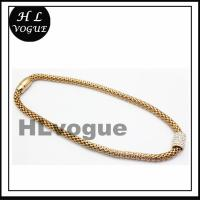 Stainless Steel Mesh Necklace with Magnetic Clasp and Crystal Beads Charm Jewelry Necklace Manufactures