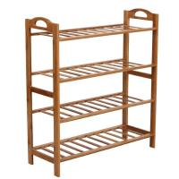 Durable Bamboo Home Furniture 4 Tier Shoe Rack Renewable Resource And Environmental Manufactures