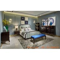 New classic luxury bedroom furniture set used in High end glossy painting wood bed with Storage chest of drawers cabinet Manufactures