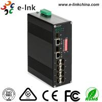 Manageable Industrial Ethernet Media Converter 10 / 100 / 1000M SFP Combo Manufactures