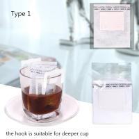Non Woven Paper Cotton Drip Coffee Filter Bags 3 Side Seal Food Grade Customized Size Manufactures
