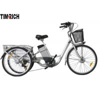TM-BGL-ET02 Three Wheel Electric Bike , Rechargeable Electric Bicycle With Lithium Battery Manufactures