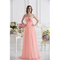 Cheap One Shoulder Sweetheart A-line Chiffon Long Evening Party Gown With Applique Manufactures