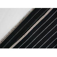 China 11.7oz 100% Cotton Stretchable Jeans Material , Yarn Dyed Striped Twill Fabric on sale