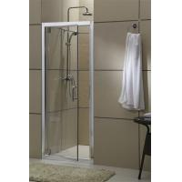 Aluminum Alloy Pivot Glass Shower Door Bright Silver Profiles With Stainless Steel Accessories Manufactures