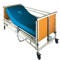 China Cold Rolling Steel Structure Automatic Patient Bed , Wood Medical Adjustable Bed on sale