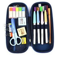 Hard Shell Stationery Organiser Pencil Case For School Customized Zipper Container Manufactures