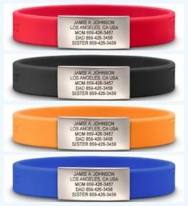 China www.google.com custom color custom size silicone bracelet with metal on sale