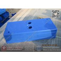 China Blue Color Injection Molding Plastic Temporary Fencing Feet Shell | China Temp Fencing Block Factory on sale